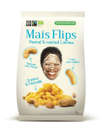 Organic Mais Flips Peanut & Roast Cashew