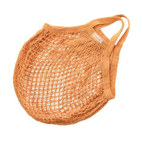 Organic Granny String Bag Short Handle - Orange