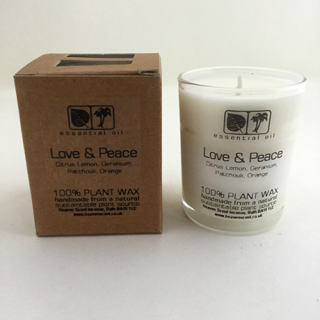 Love & Peace Votive 9cl Candle
