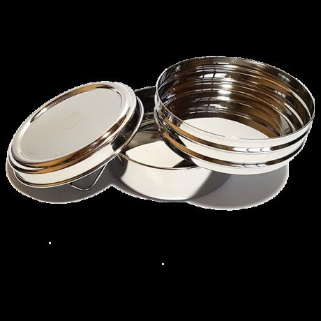 2Tier Circular Lunchbox 8.5x13cm diameter