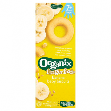Organic Banana Ring Baby Biscuits