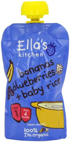 Organic Banana, Blueberry & Baby Rice