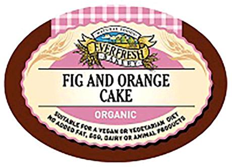 Organic Fig & Orange Cake