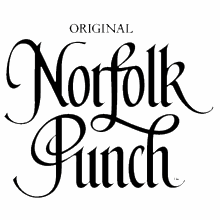 Norfolk Punch herbal tonic drink glass bottle