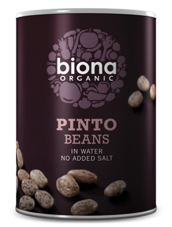 Organic Pinto Beans in tins