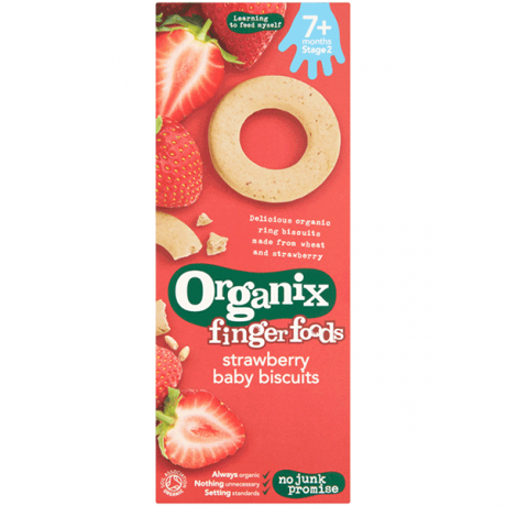 Organic Strawberry Ring Baby Biscuits