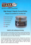 High Omega 3 Coconut Butter Point of Sale Leaflet free of ch