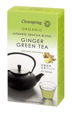 Organic Ginger Green Tea Bags