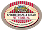 Organic Sprouted Spelt Raisin Bread