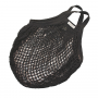Organic Granny String Bag Short Handle - Black