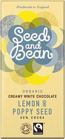 Organic Lemon & Poppy White Choc Bar