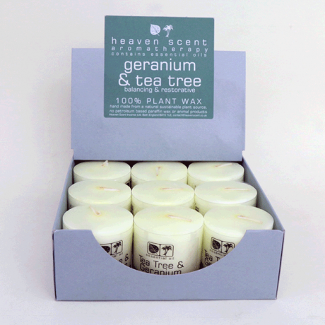 Tea Tree & Geranium Essential Oil Candles