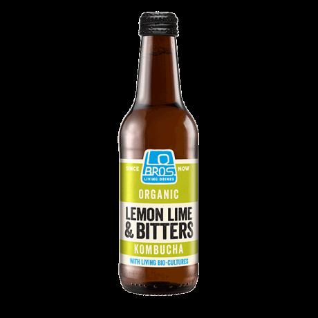 Organic Lemon Lime Bitters Kombucha Living Soda