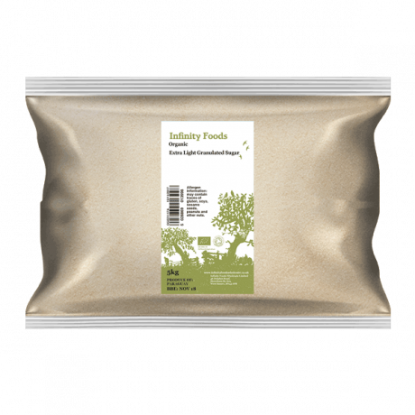 Organic Extra Light Granulated Sugar - Infinity Foods