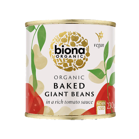 Organic Baked Giant Beans in tins