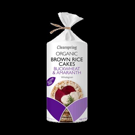 Organic Brown Rice Cakes Buckwheat & Amaranth