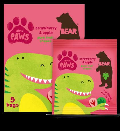 Dino Paws - strawberry & apple