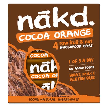Multipack Cocoa Orange Raw Wholefood Bar