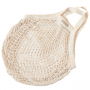 Organic Granny String Bag Short Handle - Natural White