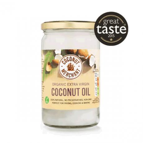 Organic Coconut Oil - raw extra virgin - glass