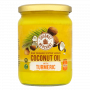 Organic Coconut Oil - raw with Turmeric - glass