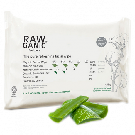 Organic Aloe Vera Facial Cleansing Wipes