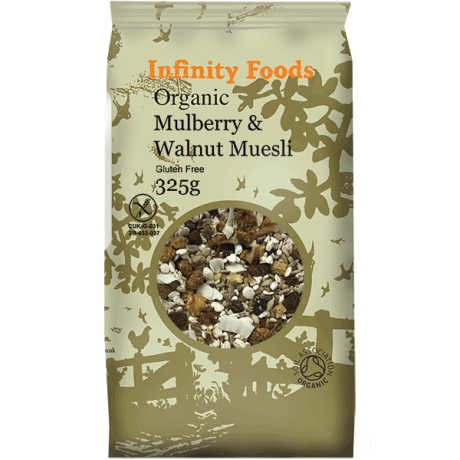 Organic Mulberry & Walnut Muesli - gluten-free