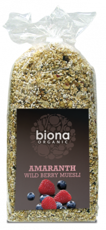 Organic Amaranth Wild Berry Fruit Muesli
