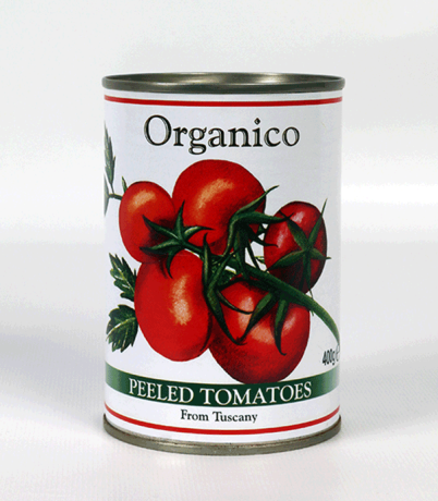 Organic Peeled Tomatoes - cans
