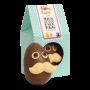 Organic Mr Moustache Funny Face Easter Egg - milk